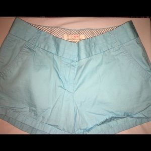 Turquoise J Crew Chino shorts good condition